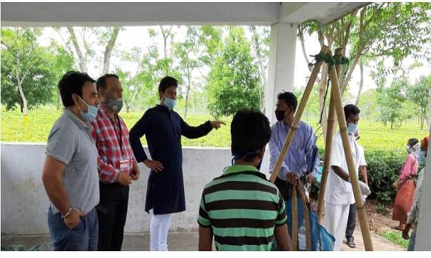 Tezpur MP Pallab Lochan Das visits tea estate, stresses wearing of masks & social distancing
