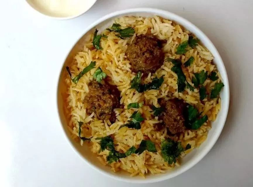 Meatballs with Pilau Rice (Kofta Pulao)