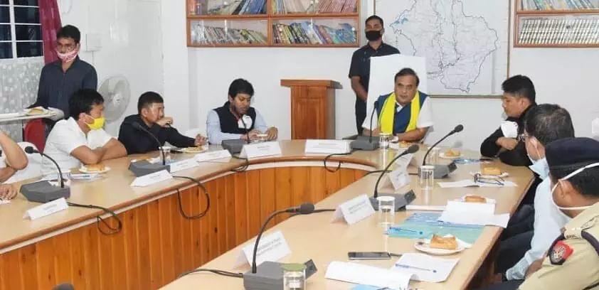 Minister Himanta Biswa Sarma reviews COVID-19 situation across Dima Hasao