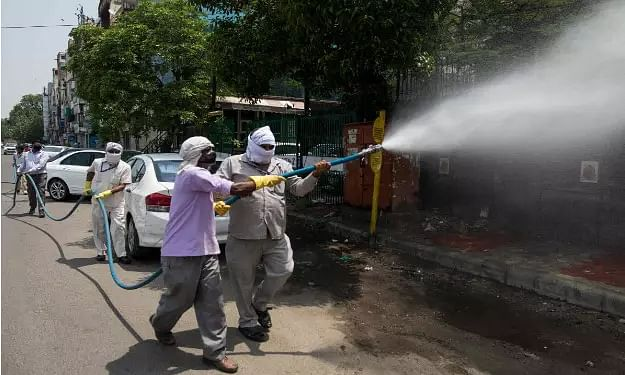 COVID-19: Fogging, sanitization underway in Guwahati City - Sentinelassam