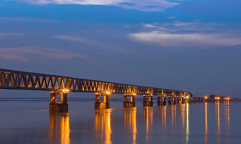 bridge under brahmaputra