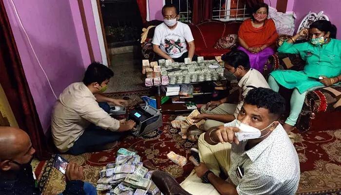cash seized in guwahati apartment