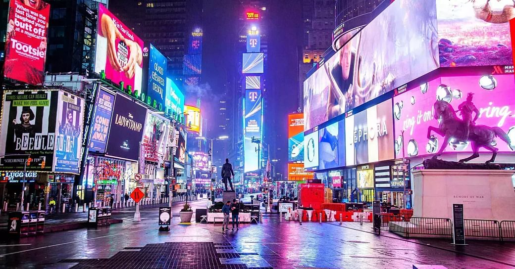 Times Square billboards to hail Lord Ram on 'bhoomi poojan' day ...