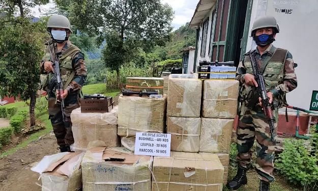 Assam Rifles recover foreign-made illegal air rifles