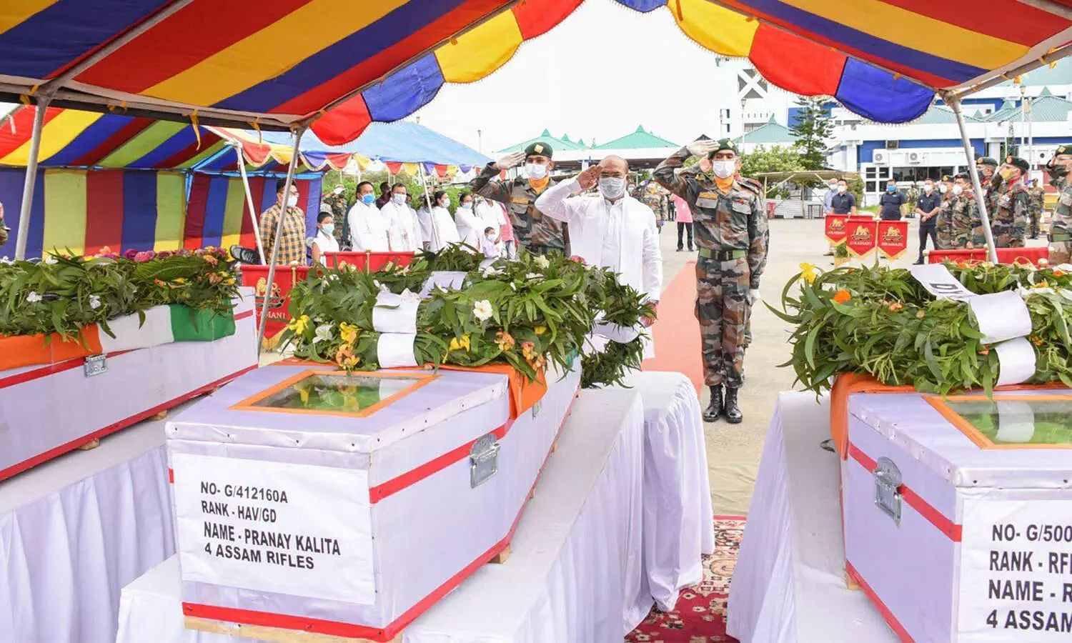 Manipur CM pays tribute to Assam Rifles jawans martyred in ambush