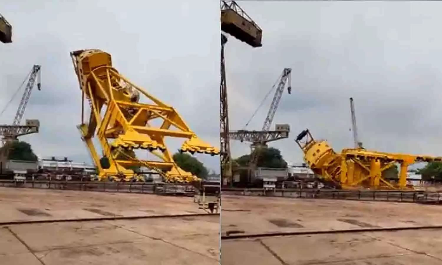 11 workers dead in Visakhapatnam shipyard crane collapse