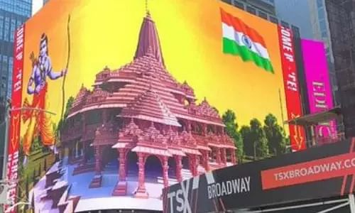 Ram Temple, Ram Temple billboard , Times Square,  Jagdish Sewhani, President of the American India Public Affairs Committee