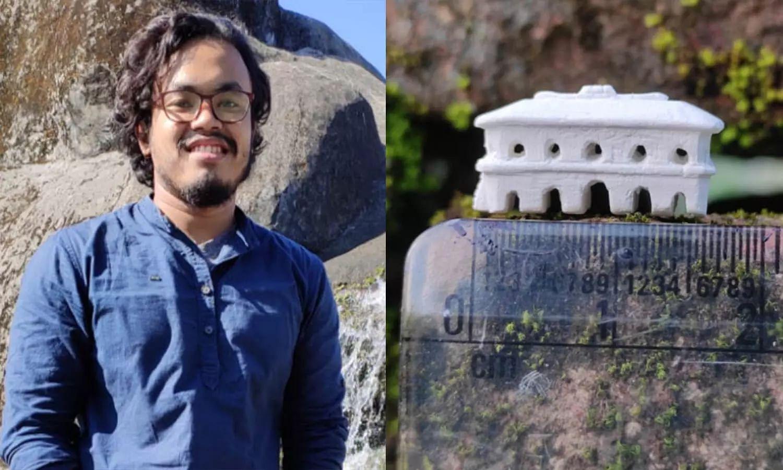 Meet Manas Pratim Gogoi, the Assam youth who sculpts iconic monuments using chalk pencils