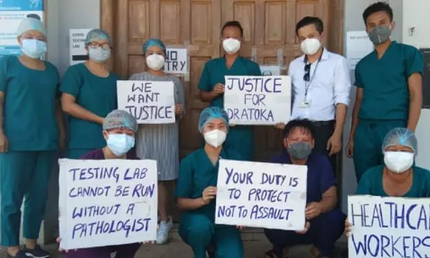 Doctor on Covid-19 duty allegedly assaulted by IRB patrol party in Dimapur