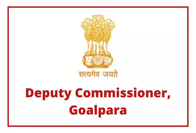 Deputy Commissioner, Goalpara Recruitment 2020
