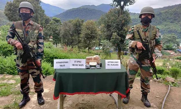 10,000 methamphetamine tablets seized by Assam Rifles in Mizoram