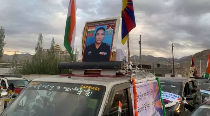 This is the first time a Tibetan's sacrifice is known to all of India.