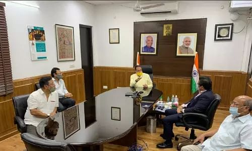 Conrad K. Sangma today met Union DoNER Minister Dr. Jitendra Singh