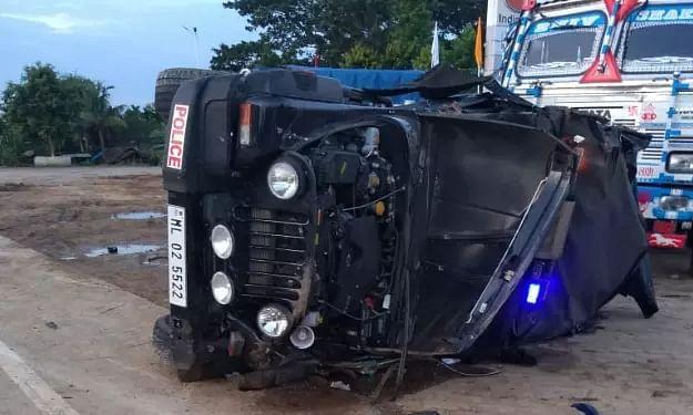 James K Sangmas convoy met with accident