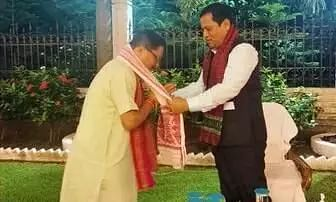 Assam CM felicitates newly appointed BJP National Gen Secy Dilip Saikia
