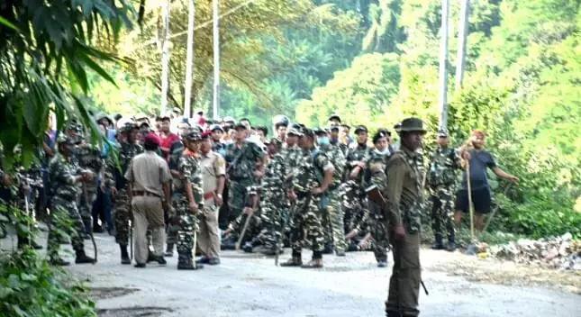 Tripura-Mizoram boundary