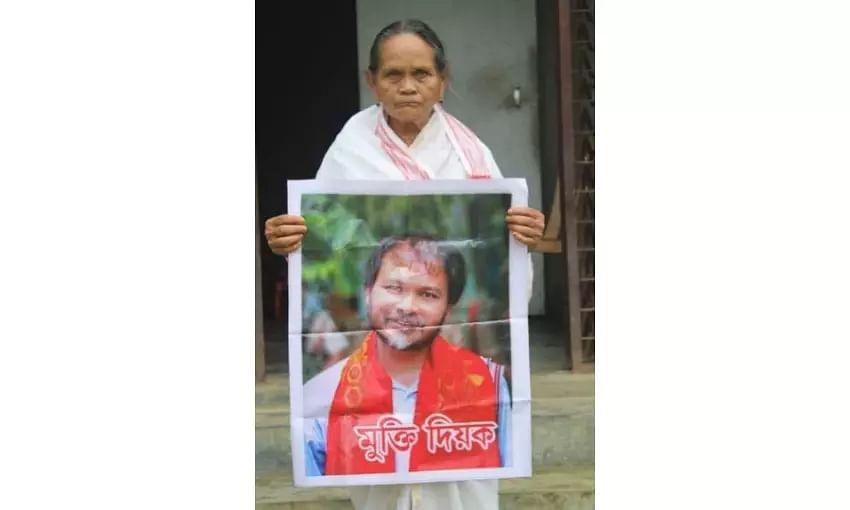 Jailed KMSS leader Akhil Gogois mother hospitalized