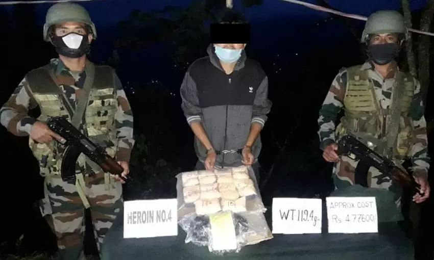 Assam Rifles recovers contraband drugs worth Rs. 4.7 lakhs in Mizoram