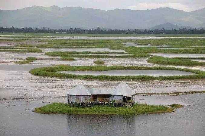 Loktak lake in Manipur