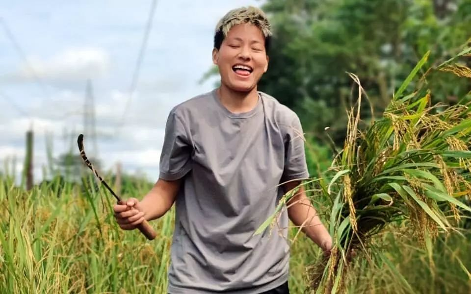 India football forward Anju enjoys working in agriculture field