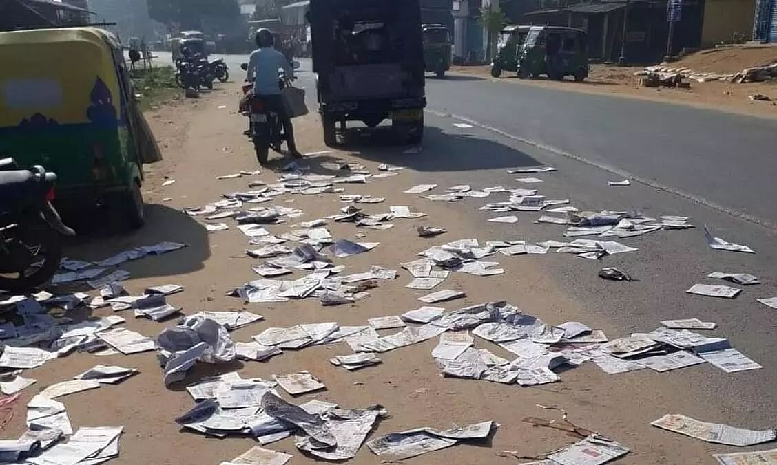 Is 150 crore scam the reason behind the destruction of Tripura newspaper?
