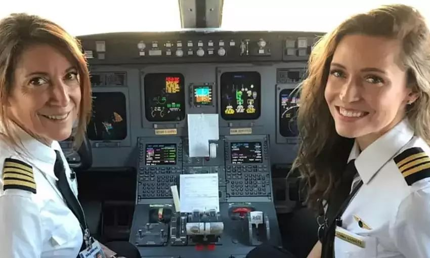 Mother-daughter duo creates history, flies the same commercial plane together
