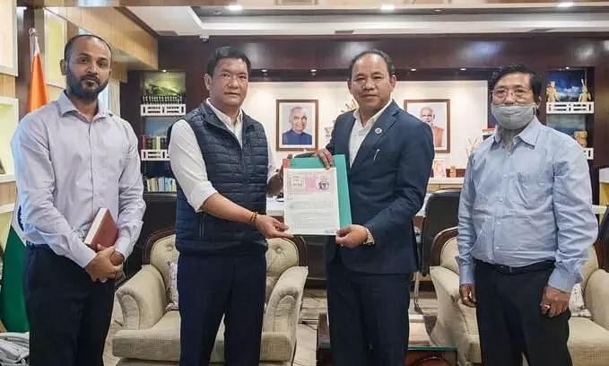 CM Pema Khandu donated a plot of land to the Sports Department in Itanagar
