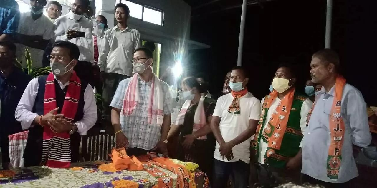 Over 100 members from various organizations join BJP in Lakhimpur district