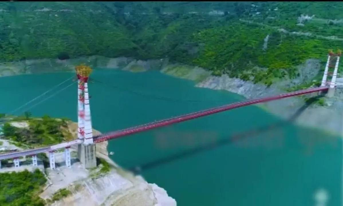 India's longest motorable suspension bridge