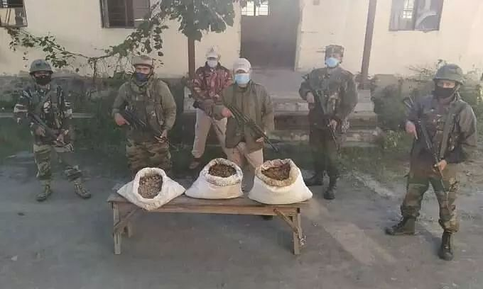 Forces recover a whopping 72 kg of brown sugar in Manipur