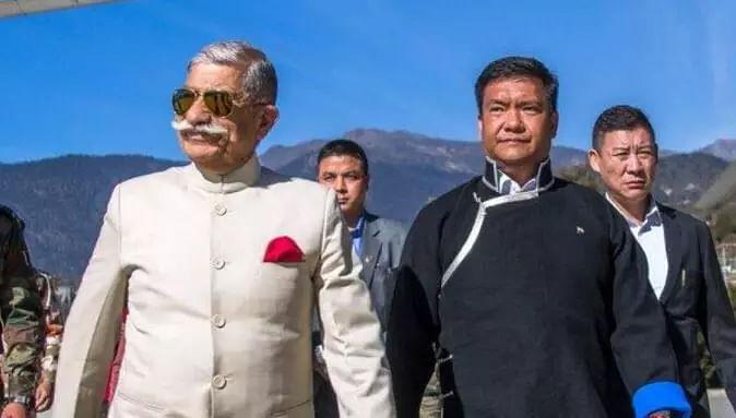Arunachal Governor & CM Pema Khandu