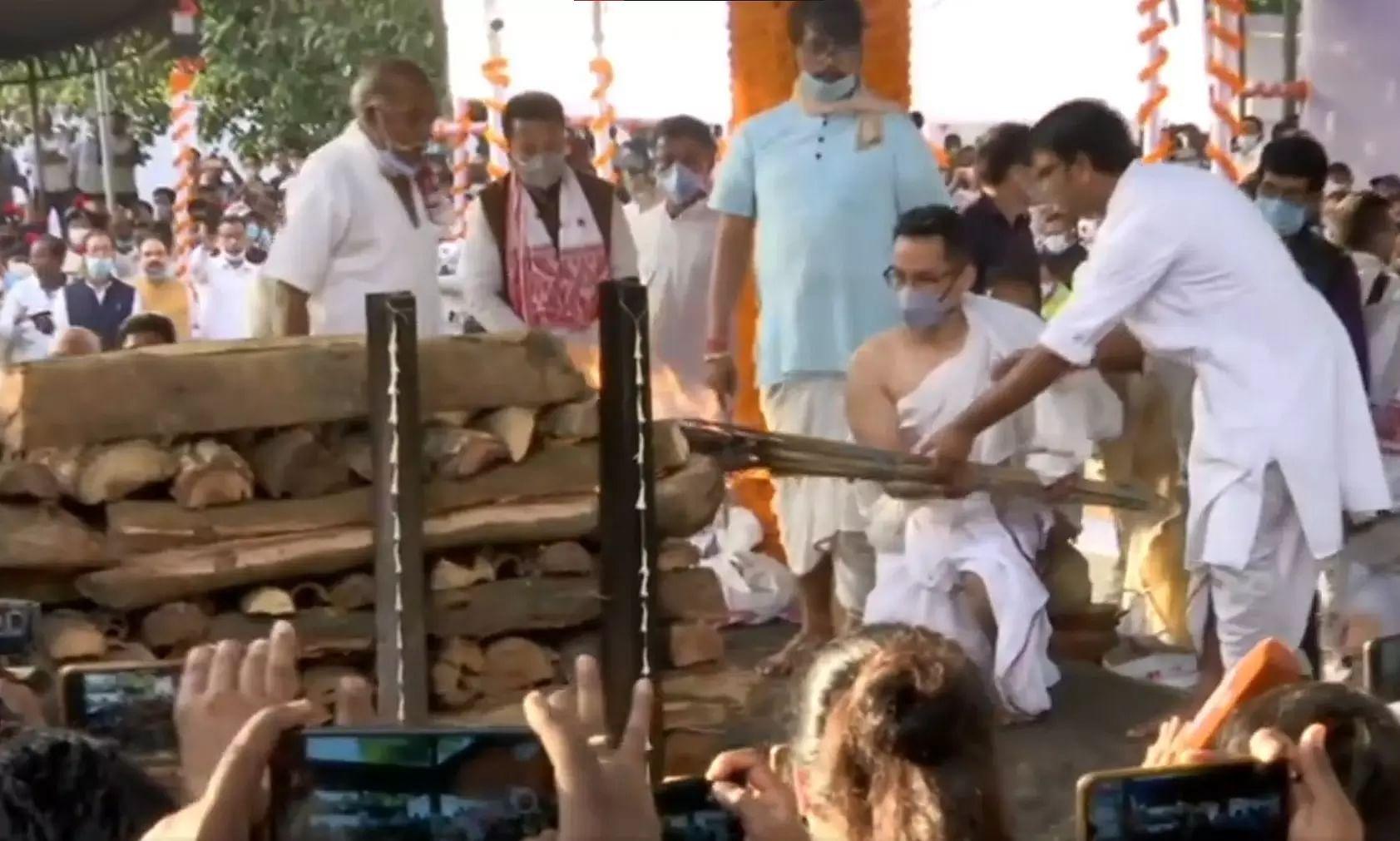 Assam bid adieu to its most loved three-time fmr Chief Minister Tarun Gogoi