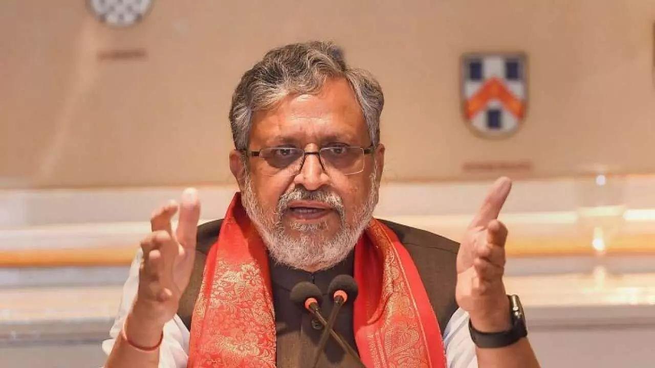 Sushil Kumar Modi files nomination for Rajya Sabha bypolls in Bihar