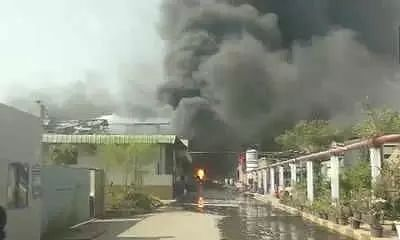 Workers injured after a massive explosion in Hyderabad chemical factory
