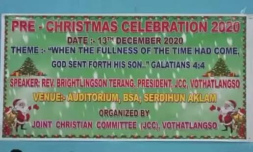 Pre- Christmas celebration in Baithalangso of West Karbi Anglong