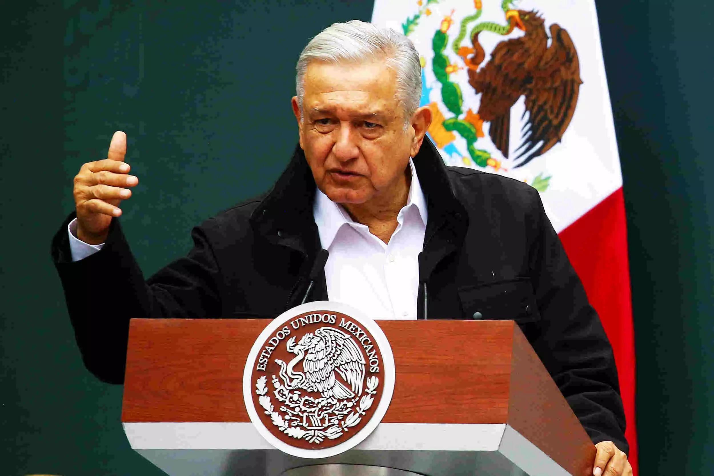 Mexicos President Andres Manuel Lopez Obrador congratulates Joe Biden