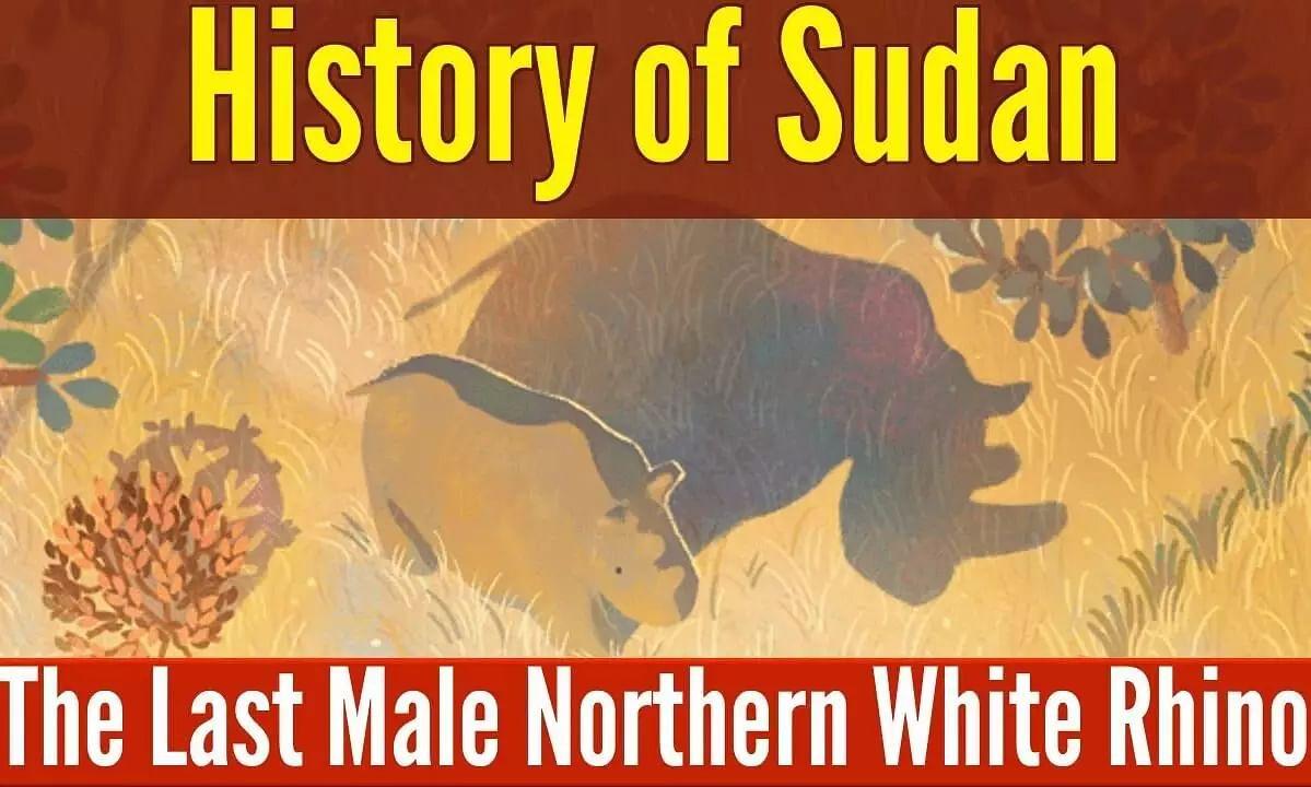 Sudan, last male Northern White Rhino featured in Google Doodle