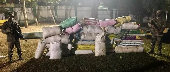 Massive amounts of contraband worth Rs 74 lakhs seized yet again in Tripura