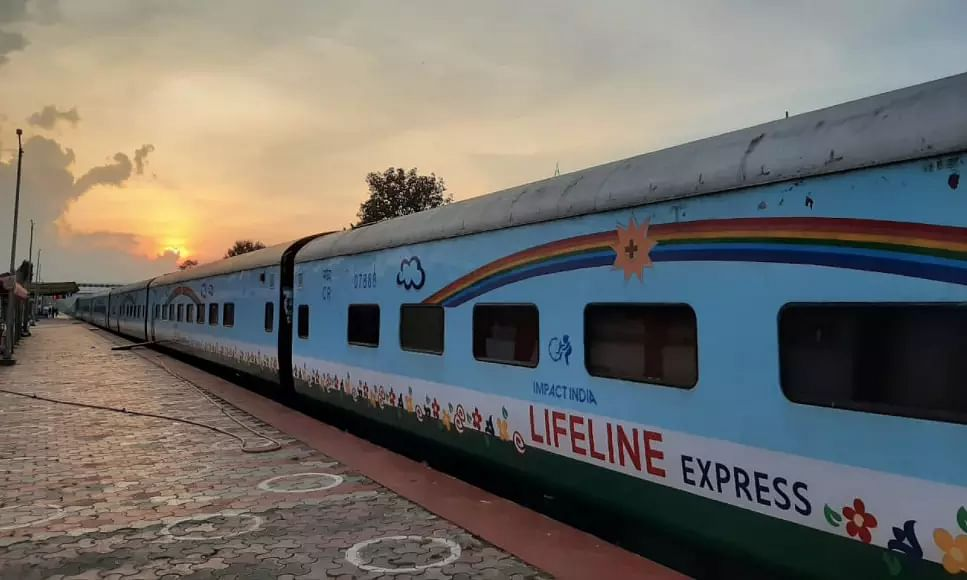 Worlds 1st Hospital Train Lifeline Express Currently Stationed in Assam