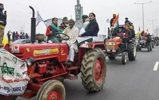 Farmers hold tractor march, say it is rehearsal for January 26