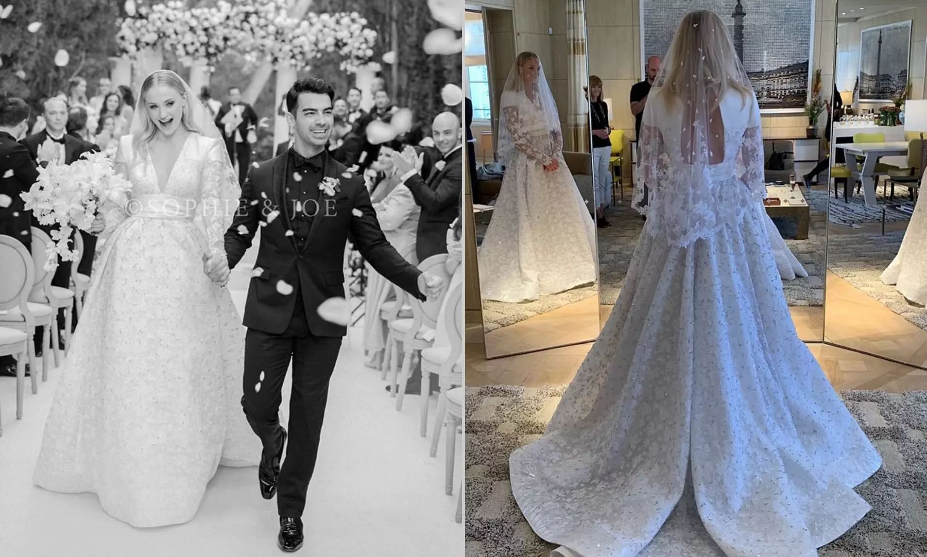 Some pictures of Sophie Turner and Joe Jonas's wedding