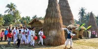 Bhogali Bihu is being celebrated all over Assam