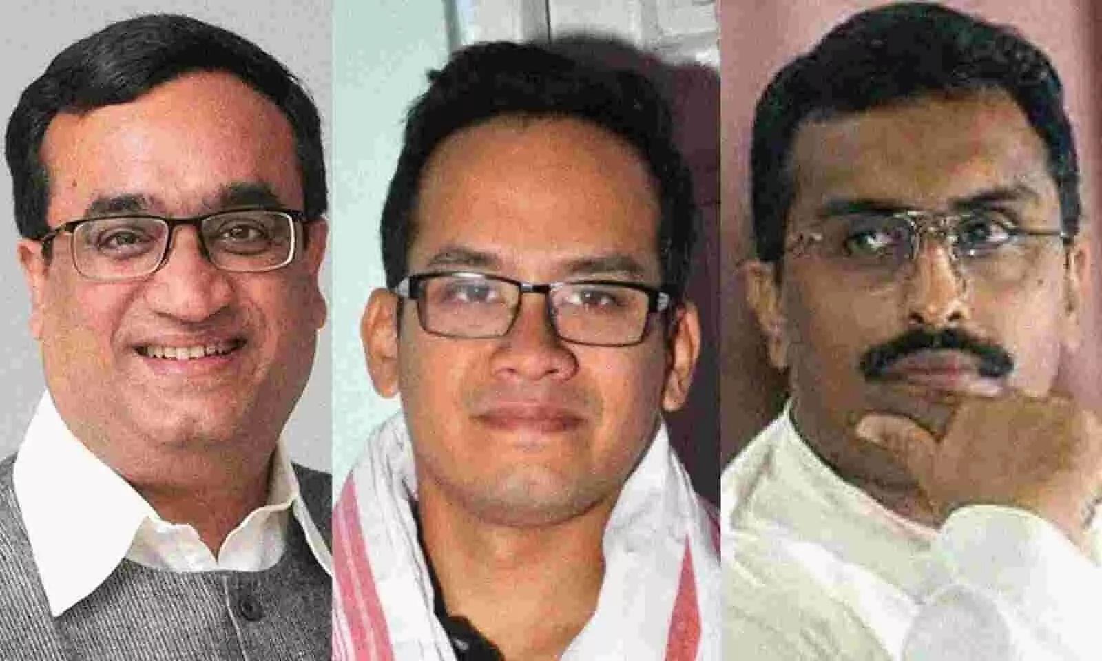BJPs Ram Madhav gets into Twitter war with Congress Gaurav Gogoi & Ajay Maken. Heres why
