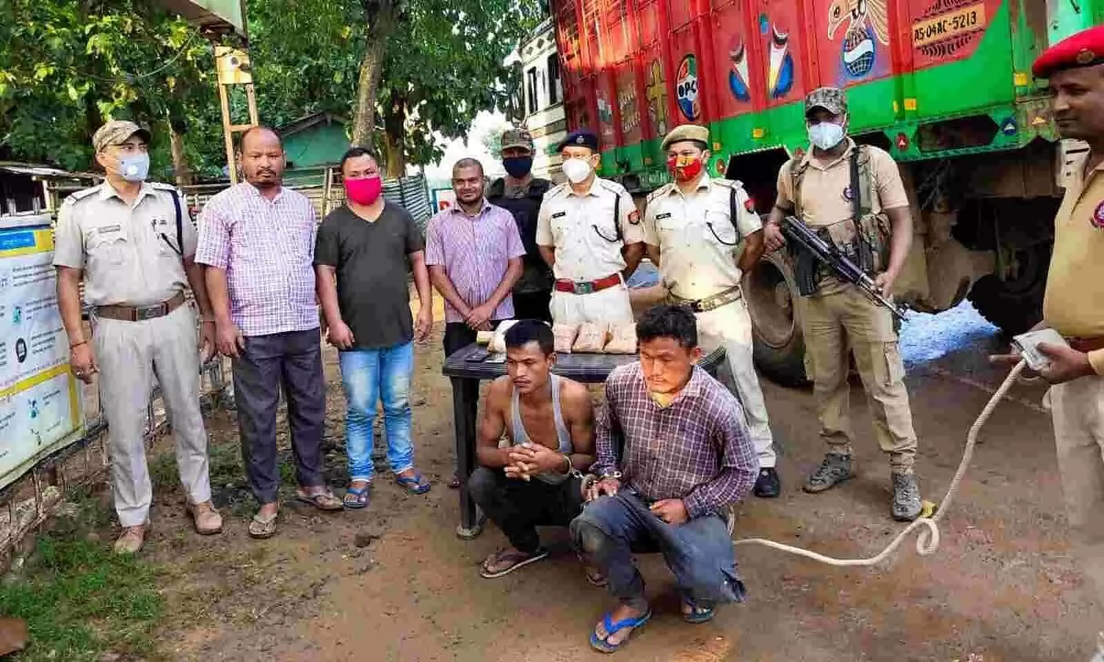 Drugs worth Rs 15 crore seized, traffickers arrested in Sonitpur