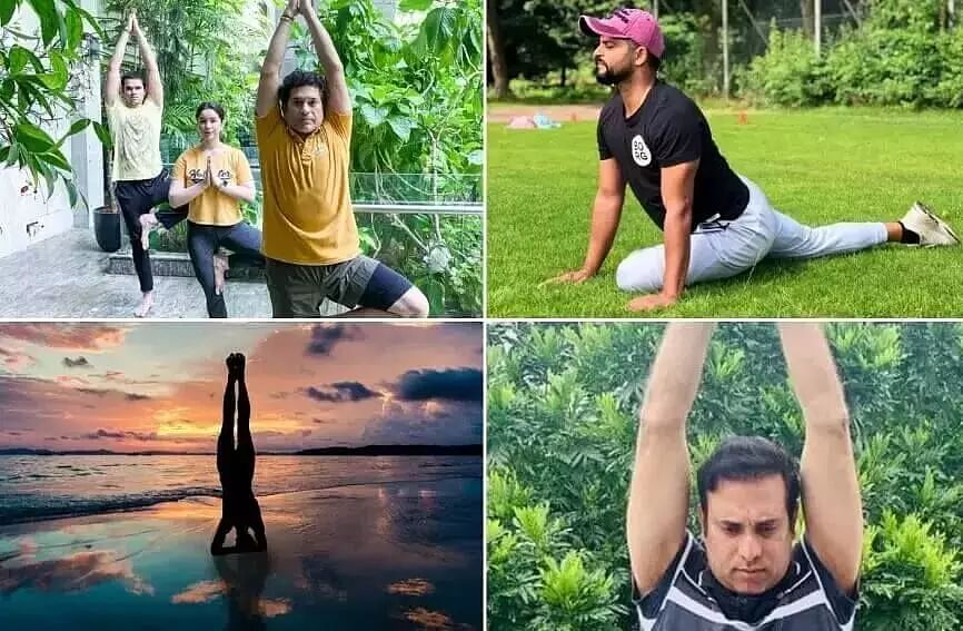Sports stars underline importance of staying fit on World Yoga Day