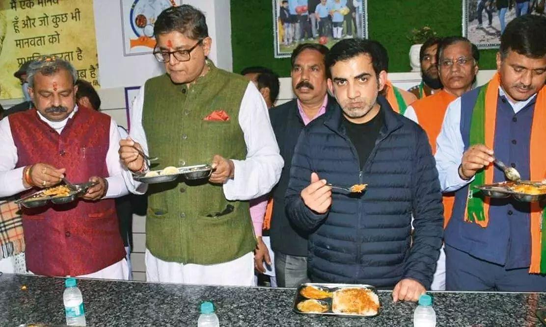 BJP MP Gautam Gambhir Launches Jan Rasoi Canteen, to Serve Food at Re 1