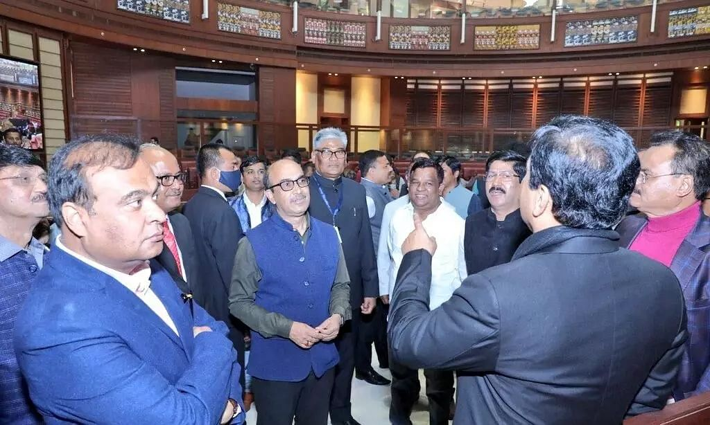 Day 3 of Assam Assembly Proceedings Held at Under-Construction Building