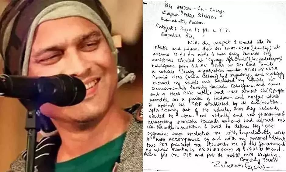Zubeen Garg threatened with beer bottles by miscreants in Guwahati; FIR filed