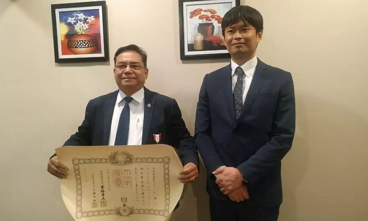 Dr Thangjam Dhabali Singh from Manipur Receives Japans Highest Honour