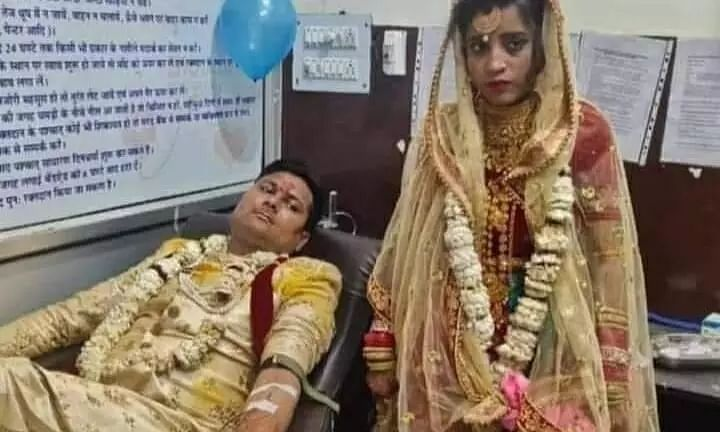 Couple Donates Blood on Wedding Day to Save a Girl